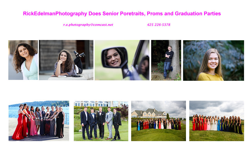 Proms, Graduation Parties and Senior Portraits