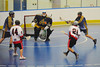 "Onondaga Red Hawks A.J. Bucktooth (21) fires a shot on the Allegany Arrows net in Can-Am Senior ""B"" Box Lacrosse league action at the Onondaga Nation Arena in Nedrow, New York on Sunday, June 26, 2011.  Redhawks won 30-4."