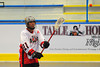 """Onondaga Red Hawks A.J. Bucktooth (21) makes a pass in Can-Am Senior """"B"""" Box Lacrosse league action at the Onondaga Nation Arena in Nedrow, New York on Sunday, June 26, 2011.  Redhawks won 30-4."""
