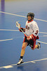"Onondaga Red Hawks Matt Noble (3) carries the ball in Can-Am Senior ""B"" Box Lacrosse league action at the Onondaga Nation Arena in Nedrow, New York on Sunday, June 26, 2011.  Redhawks won 30-4."
