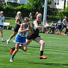 Meaghan Parlee races up field during Saturday's championship. Nashoba Publishing/Ed Niser