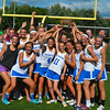 Members of the Bromfield Trojans show off their Central/Western Mass Championship following Saturday's win over Grafton. Nashoba Publishing/Ed Niser