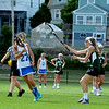 Kaeli Armstrong passes the field down field in Saturday's championship game. Nashoba Publishing/Ed Niser