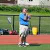 Bromfield head coach Dave Planchet surveys the field during Saturday's sectional championship game. Nashoba Publishing/Ed Niser