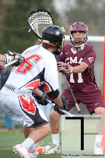 April 14, 2012; Bloomfield Hills, MI, USA; During a high school lacrosse game between Culver Military Academy and Brother Rice. Brother Rice won 9-8.