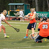 fsu Andrea Comeau shoots the ball and it's between the legs of the goalie