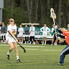 FSU Ali Laferriere shoots and ball is caught by goalieJenn Toussaint