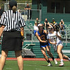 FSU's Jamiee Lutz moves in around WS Kalia Chase and gets the 4th goal for the Falcons