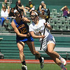 FSU Jaimee Lutz moves with the ball against Kalia Chase