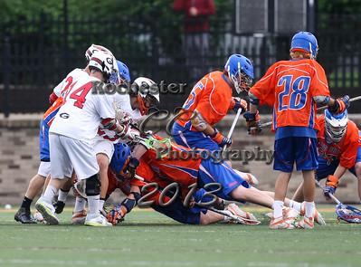 May 28, 2013;  Rochester, NY; USA; Penn Yan boy's lacrosse vs. Geneva at Growney Stadium  Photo: Christopher Cecere