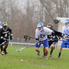 St. Bernard's High School played Lunenburg High School on Wednesday afternoon in Lunenburg. Followed by many players LHS's Keith Learnard goes after a lose ball. SENTINEL & ENTERPRISE/JOHN LOVE