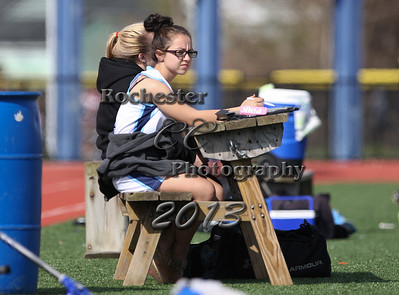 April 30, 2013;  Rochester, NY; USA; Livonia girl's lacrosse vs. Eastridge at East Irondequoit H.S..  Photo: Christopher Cecere
