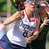 North Middlesex Regional High School girls Lacrosse played Tantasqua at home during the Central/Western Mass. Division 1 first round of playoffs. NMRHS player Gianna D'Ambrosio tries to get by THS player Cassie Arpin during action in the game. SENTINEL & ENTERPRISE/JOHN LOVE