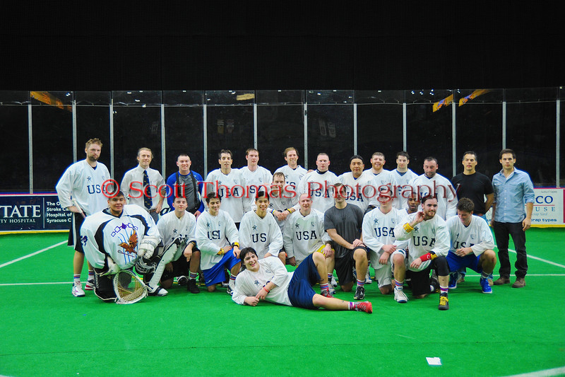 NYC Lax All-Stars at the Onondaga County War Memorial in Syracuse, New York on Thursday, February 21, 2013.
