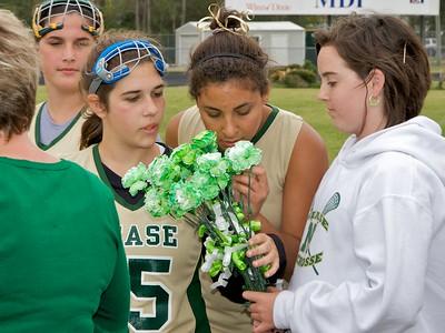 Nease Girls' Lacrosse vs Flagler  Senior Night 3-17-09