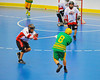 "Newtown Golden Eagles Bill Brennan (8) gets checked by Onondaga Redhawks Clayton Jones (11) in the finals of the Can-Am Senior ""B"" Lacrosse league at the Onondaga Nation Arena near Nedrow, New York."