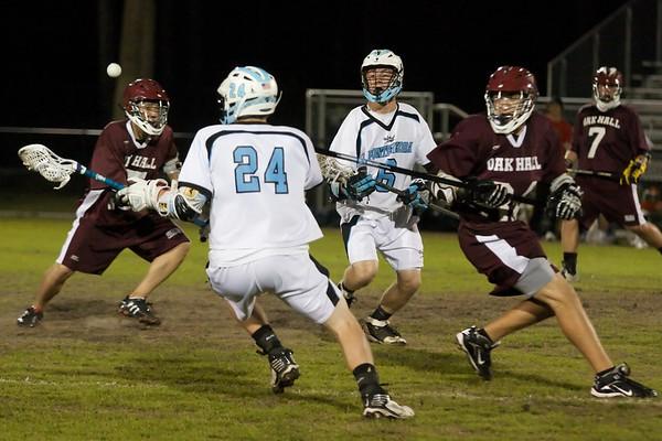 Ponte Vedra Boys' Lacrosse vs Oak Hall 3-30-10