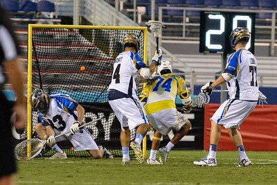 #74 Lyle Thompson Attack Florida Launch scores 7 goals against the Charlotte Hounds. Florida wins 19-9