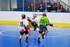 "Rochester Greywolves player takes a shot against Onondaga Redhawks goalie Spencer Lyons (1) in Can-Am Senior ""B"" Box Lacrosse at the Onondaga Nation Arena near Nedrow, New York on Saturday, April 28, 2012."