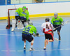 """Rochester Greywolves goalie Cory Bazylewski (00) makes a save on Onondaga Red Hawks Brad Gabriel (44) in Can-Am Senior """"B"""" Box Lacrosse playoff action at the Onondaga Nation Arena in Nedrow, New York on Friday, July 15, 2011.  Greywolves won 12-8."""
