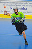 """Rochester Greywolves Steve Personale (29) makes a pass against the Onondaga Red Hawks in Can-Am Senior """"B"""" Box Lacrosse playoff action at the Onondaga Nation Arena in Nedrow, New York on Friday, July 15, 2011.  Greywolves won 12-8."""