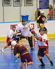 Tuscarora Tomahawks Elihah Printup (3) fires a shot at the Onondaga Redhawks net at the Onondaga Nation Arena near Nedrow, New York on Saturday, June 23, 2012.