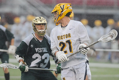 Victor double up Vestal 12-6 in the Class B semifinals.