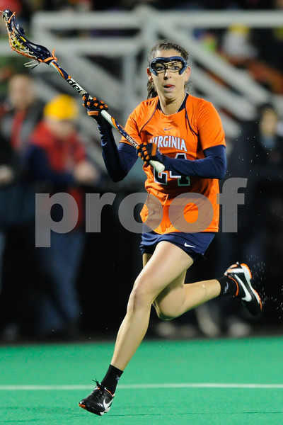 MAR 2, 2012 : Virginia's Julie Gardner (24) during action between the Virginia Cavaliers and the University of Maryland Womens Lacrosse match up at the Field Hockey and Lacrosse Complex at the University of Maryland in College Park, MD. The Terrapins defeated the Cavaliers 12-9.