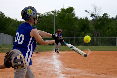 Taylor brings Addie home from third with a big hit