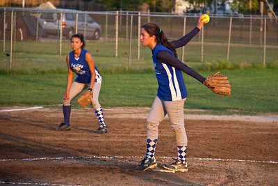 Sarah pitched two hitless innings to get the Bombers rolling