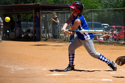 Addie with a first inning smash
