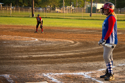 Addie with a moment alone at the plate