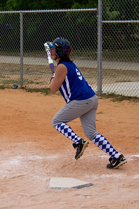 Rylee heads towards first base