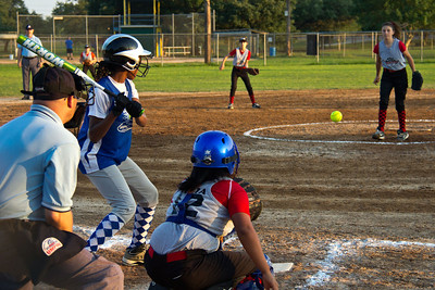 Azia takes the pitch and a free pass to first base