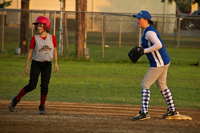 Rylee covers second base