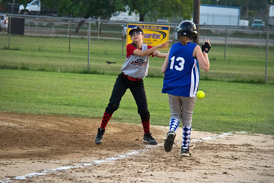 Alyssa reaches first base