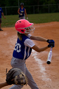 Sara loads up the bat