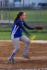 Sarah struck out six in two innings of work
