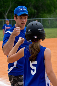 Coach Chris checks out Hannah after yet another hit-by-pitch