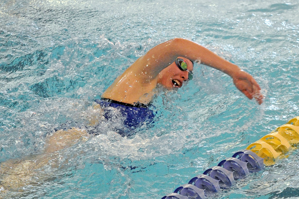 Molly Green competes in the 200-meter freestyle relay during the Sheridan Invite on Saturday, Sept. 23 at Sheridan Junior High School. Mike Pruden | The Sheridan Press