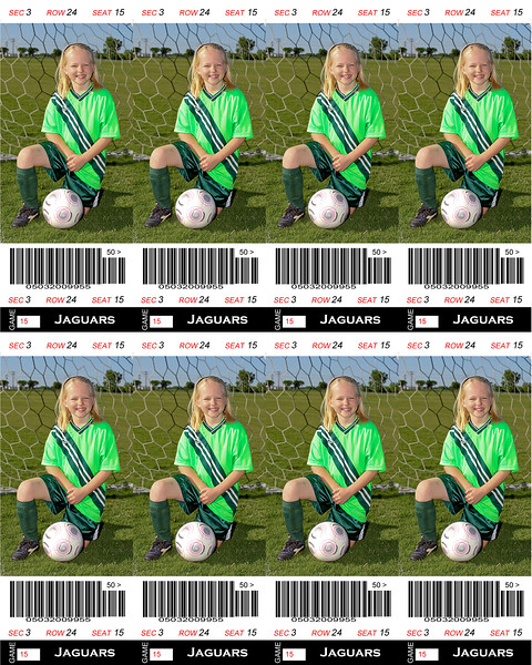 Megan Sports Ticket Soccer 8x10