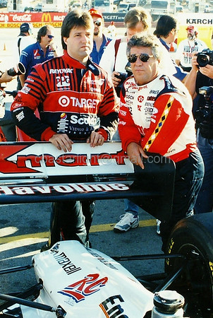 Michael and Mario Andretti before Mario's last IndyCar race (Laguna Seca - Monterey, CA - Oct. 9, 1994)
