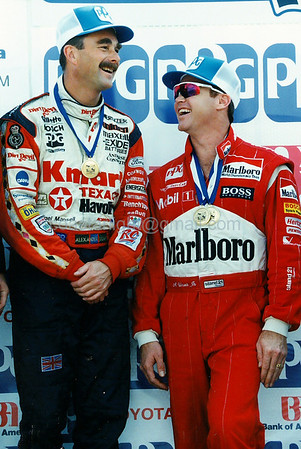 Nigel Mansell and AL Unser Jr. (Laguna Seca - Monterey, CA - Oct. 9, 1994)