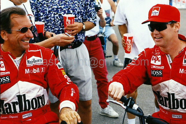 Emerson Fittipaldi and Al Unser Jr. (Laguna Seca - Monterey, CA - Oct. 9, 1994)
