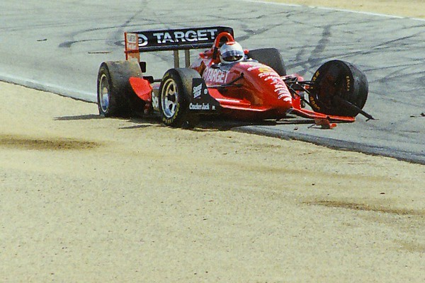 Michael Andretti's early finish (Laguna Seca - Monterey, CA - Oct. 9, 1994)