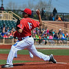 Eric Bonzar—The Morning Journal<br /> Crushers' starting pitcher Fernando Gallegos went six innings, giving up two hits while striking out seven, in the team's 3-0 win over the Schaumburg Boomers, May 18, 2016.