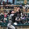 Eric Bonzar—The Morning Journal<br /> Schaumburg catcher James Keller camps under an pop-up at home plate, May 18, 2016.
