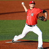 Eric Bonzar—The Morning Journal<br /> Right hander Jordan Kraus pitched six innings, giving up two runs on nine hits, and striking out three in the Crushers' game against the Traverse City Beach Bums, June 17, 2016.