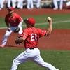 Eric Bonzar—The Morning Journal<br /> Crushers pitcher Steve Hagen took to the mound for the team's game against the Southern Illinois Miners, Aug. 3, 2016.