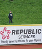 Jim Bobel/JBobel@morningjournal.com<br /> A lone young boy takes in the Crushers Home Opener  from the hill in the outfield.